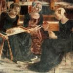 """Affresco di Del Cossa, """"Il Trionfo di Minerva"""", 1476-1484, Palazzo Schifanoia di Ferrara"""