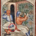 MS 15277, folio 15v, British Library; Vecchio Testamento, Esodo, XV sec.