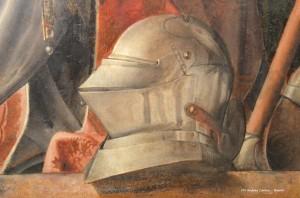 PEDRO BERRUGUETE, Ritratto di Federico da Montefeltro con Guidobaldo bambino, 1476-1477 c., Galleria Nazionale delle Marche, Urbino